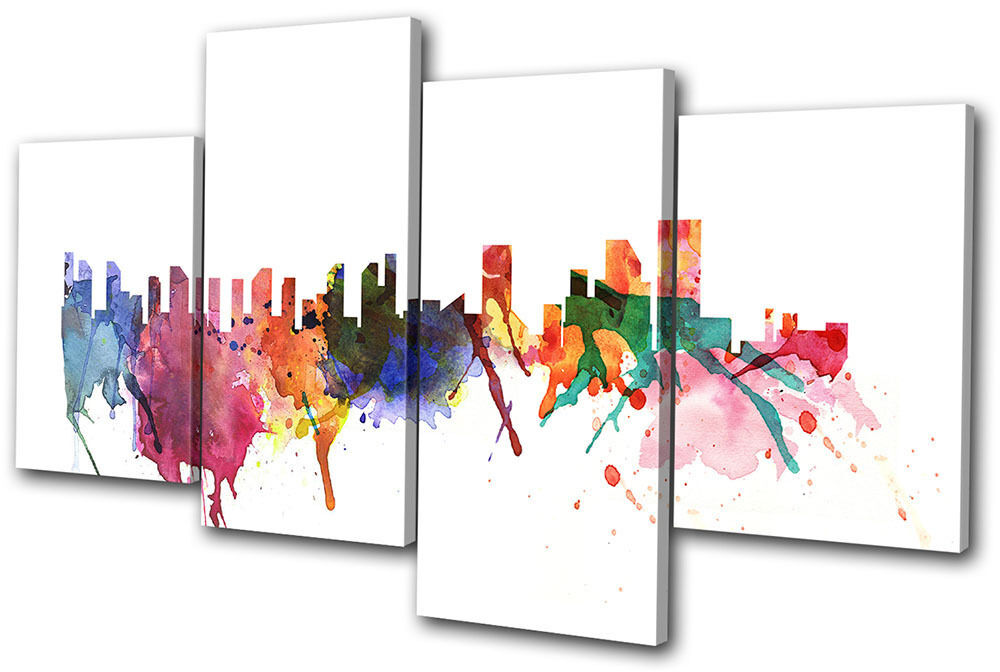 Wall Art Multi Canvas : City new york abstract multi canvas wall art picture print