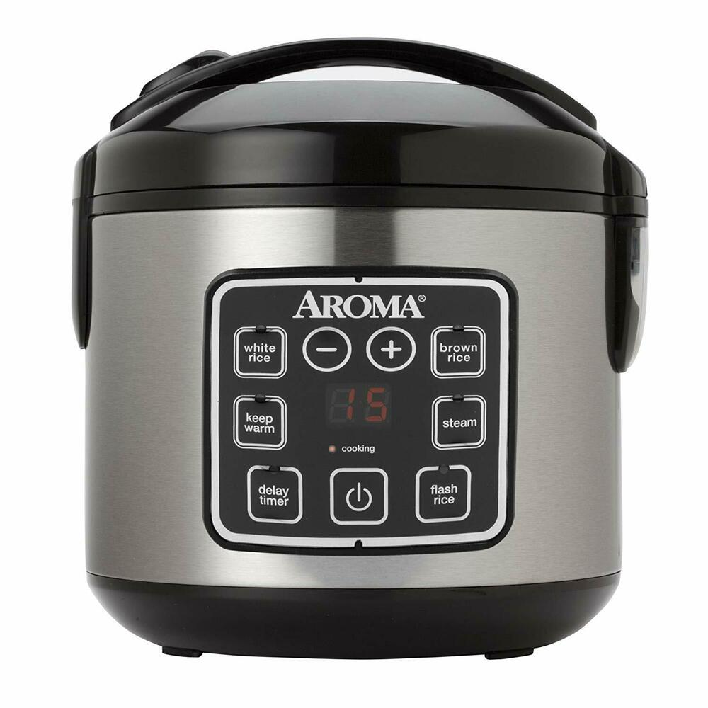 Aroma 16 Cup Digital Rice & Slow Cooker + Food Steamer 15