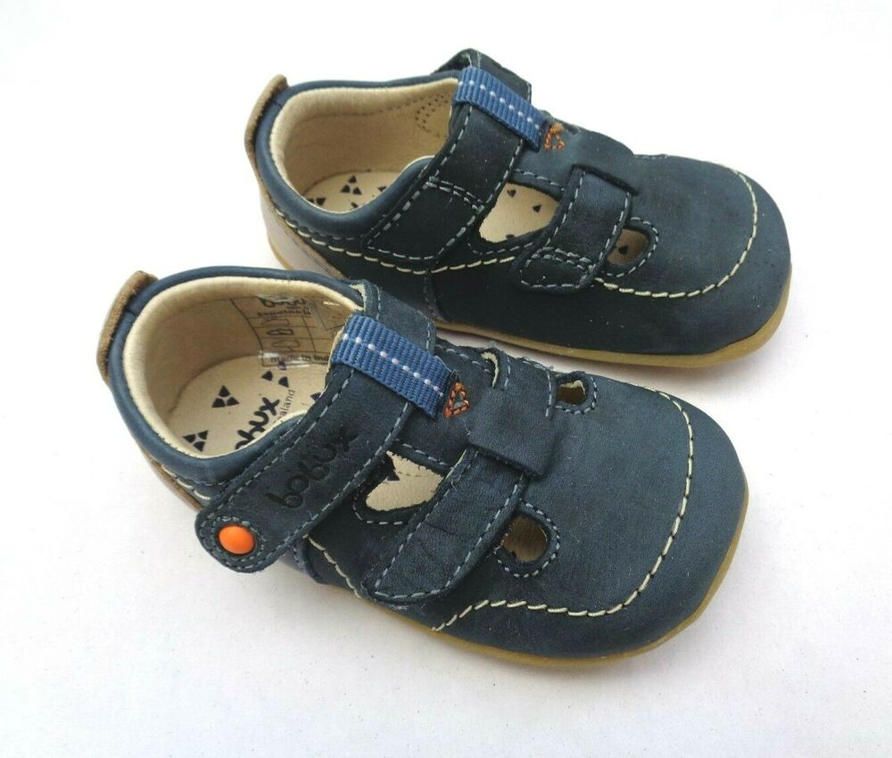 bobux step up first walkers jack jill navy leather closed toe sandals uk2 5 ebay. Black Bedroom Furniture Sets. Home Design Ideas