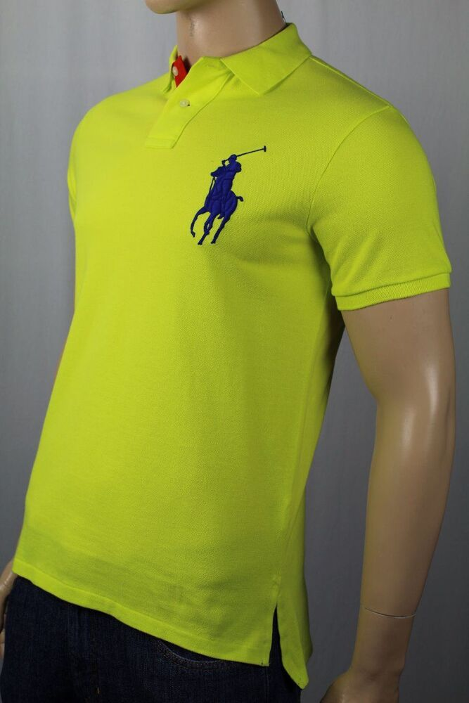 Polo Ralph Lauren Neon Yellow Custom Fit Big Pony Shirt ...
