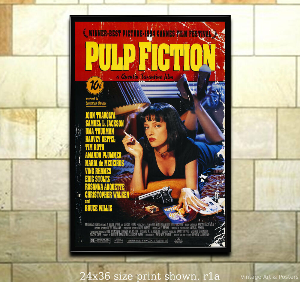 Pulp Fiction - 11x17 inch Vintage Film Movie Poster | eBay