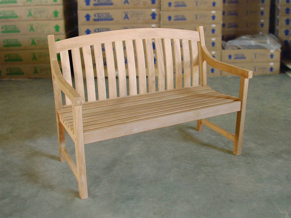 Teak Bench 48 120cm Perfect For Your Dining Table Garden Outdoor