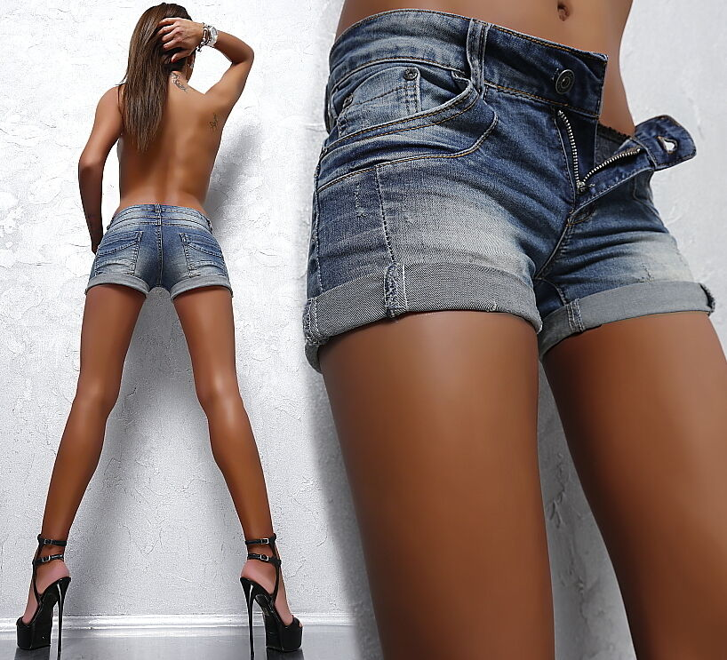 neu sommer damen sexy fit stretch fd8 hot jeans kurz hose mini shorts pants xs ebay. Black Bedroom Furniture Sets. Home Design Ideas