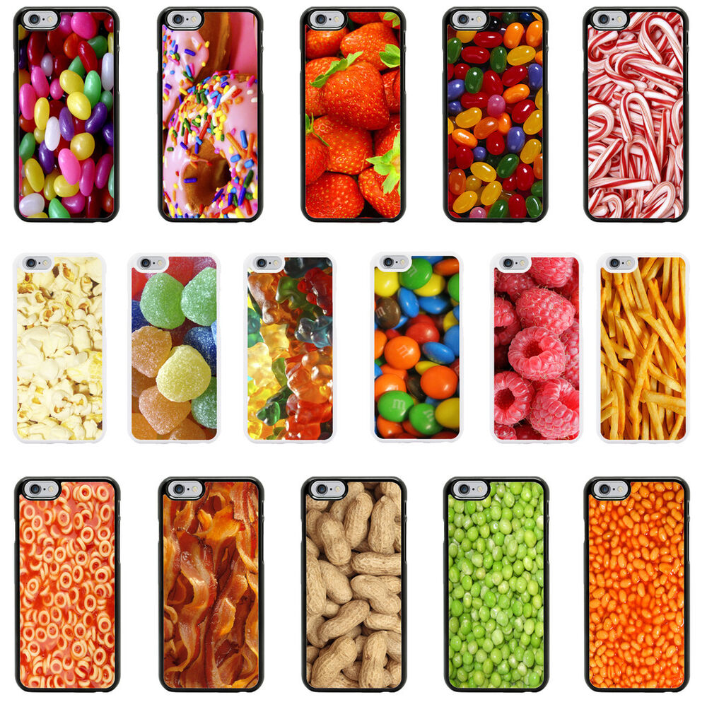 Sweets Food Snacks Case Cover for Apple iPhone 4 4s 5 5s 6 6 Plus - 04 ...