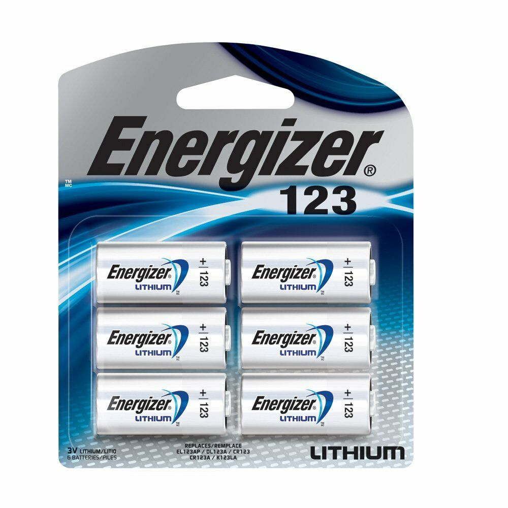 6 pk 123 cr123a cr 123a 3v energizer lithium batteries ebay. Black Bedroom Furniture Sets. Home Design Ideas