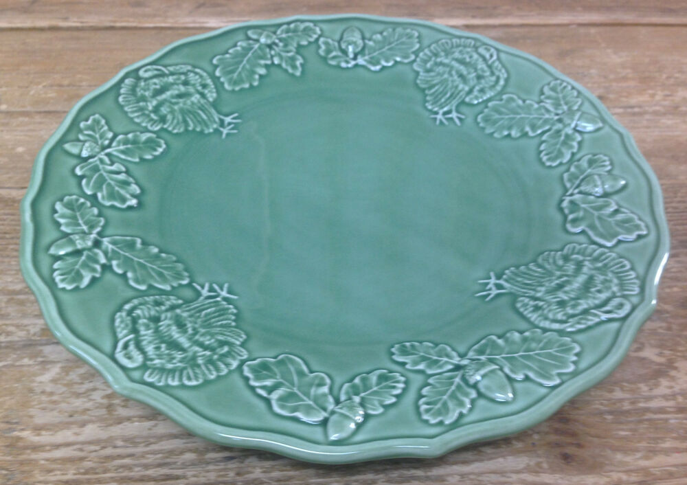 Bordallo pinheiro green turkey dinner plate pottery - Bordallo pinheiro portugal ...