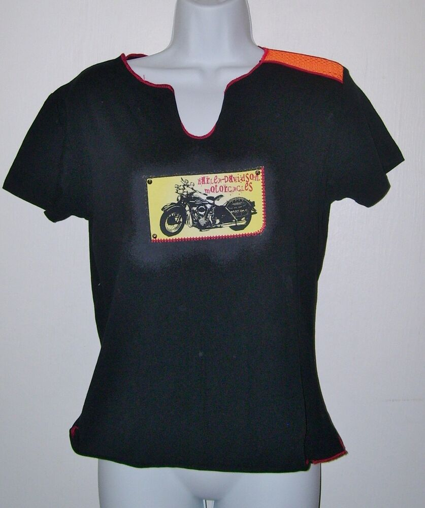 womens harley davidson motorcycles t shirt black graphic. Black Bedroom Furniture Sets. Home Design Ideas