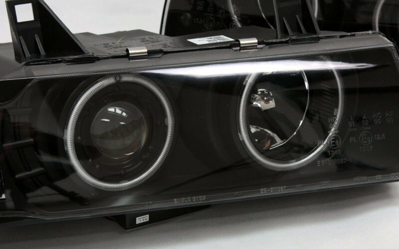 klarglas g5 ccfl neon angel eyes scheinwerfer set bmw e36. Black Bedroom Furniture Sets. Home Design Ideas