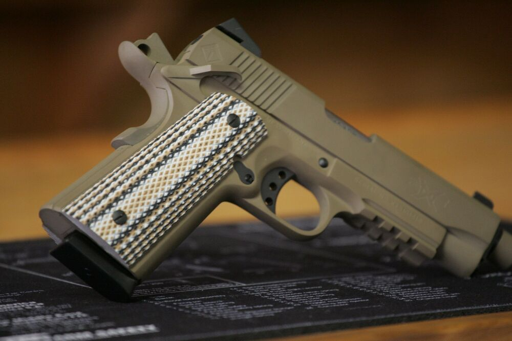 1911 Grips G10 Marine Camo Full Size Or Compact Magwell