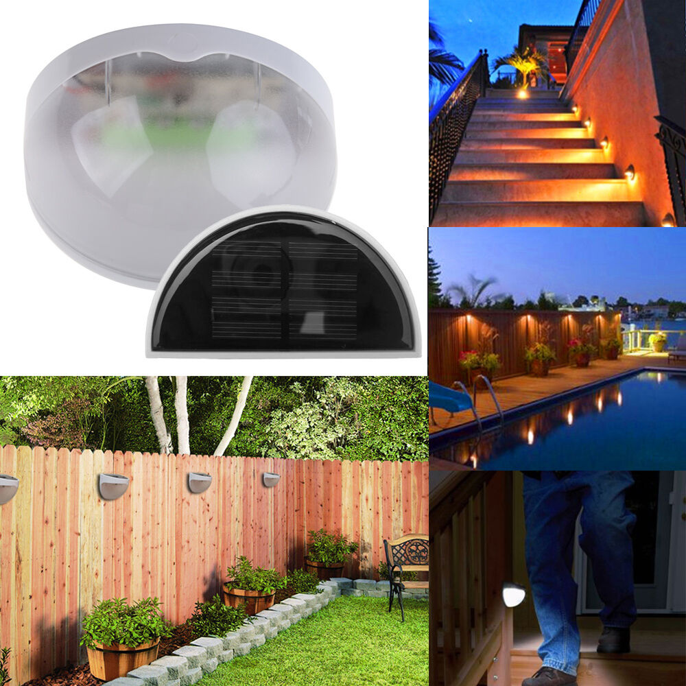 Outdoor Garden Solar Powered LED Post Deck Wall Fence Path