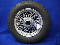 MG   MGB GT or  ROADSTER PAINTED 14'' WIRE WHEEL &  165 BARUM TYRE   *** Bive.
