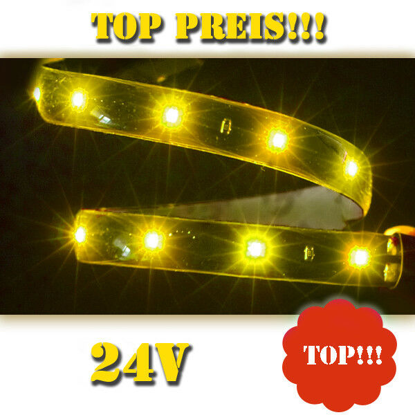 24 volt gelb orange smd led streifen leiste strip 24v selbstklebend lichtleiste ebay. Black Bedroom Furniture Sets. Home Design Ideas