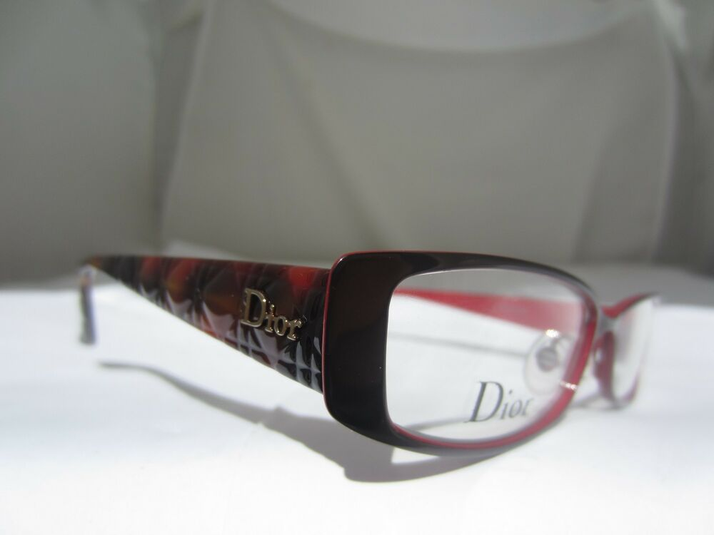 Dior Metal Eyeglass Frames : Christian Dior CD 3763 Eyeglasses Brown/Red XLB Authentic ...