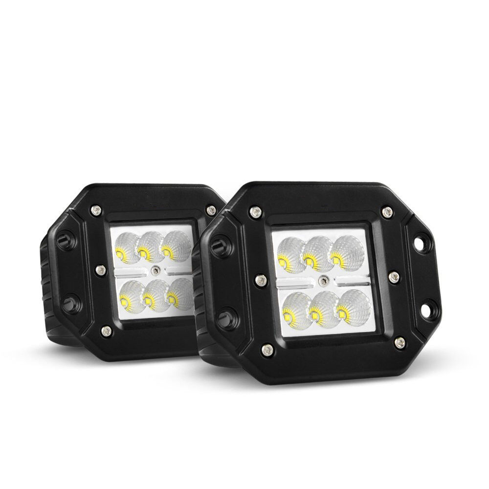 2x 4 Quot Cree Square Cube Led Pod Light Lamp Offroad Bumper