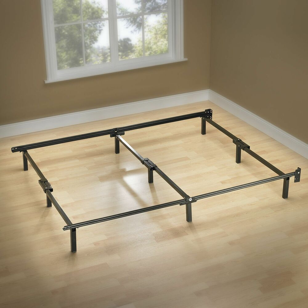 Sleep revolution full size compact smart metal bed frame for Metal bed frame full