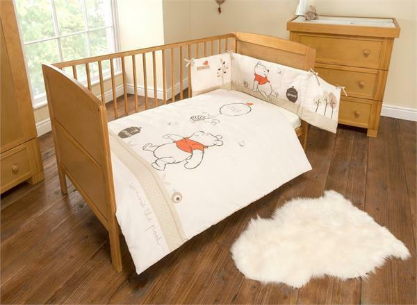Winnie The Pooh Neutral Spot Cot Cot Bed Bedding Bale
