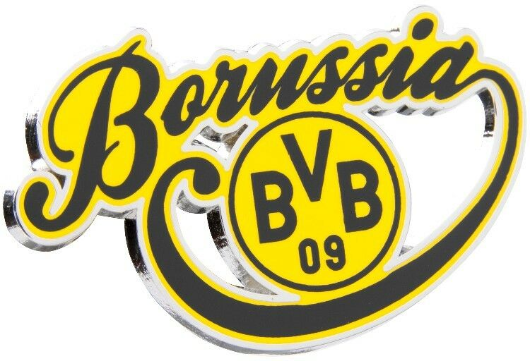 pin borussia schriftzug anstecker borussia dortmund bvb neu ebay. Black Bedroom Furniture Sets. Home Design Ideas