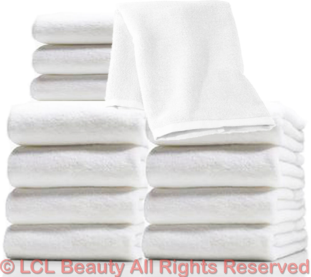 "Zip Soft Microfiber Towel: 1 Dozen 19 1/2"" X 10"" White Ultra Soft Microfiber Terry"