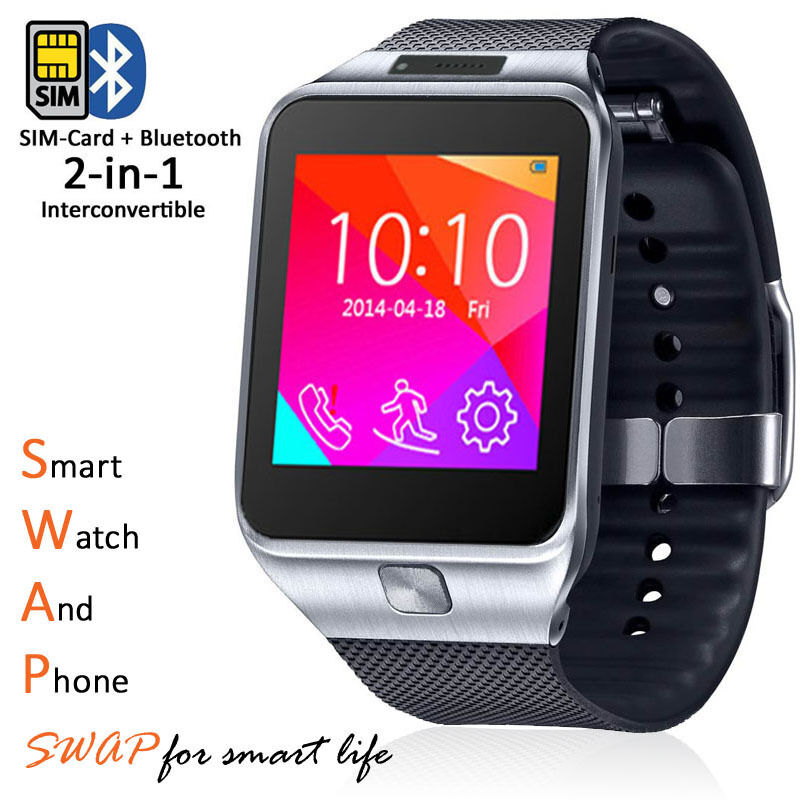 Stylish gsm wireless watch cell phone w bluetooth camera for Mobel stylisch