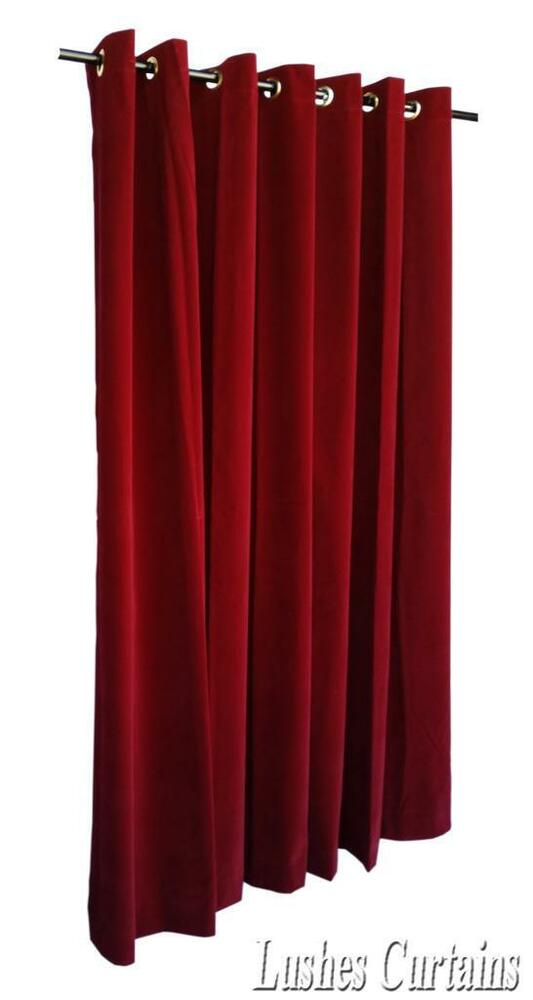 Burgundy 84 Quot H Velvet Curtain Panel W Grommet Top Eyelets