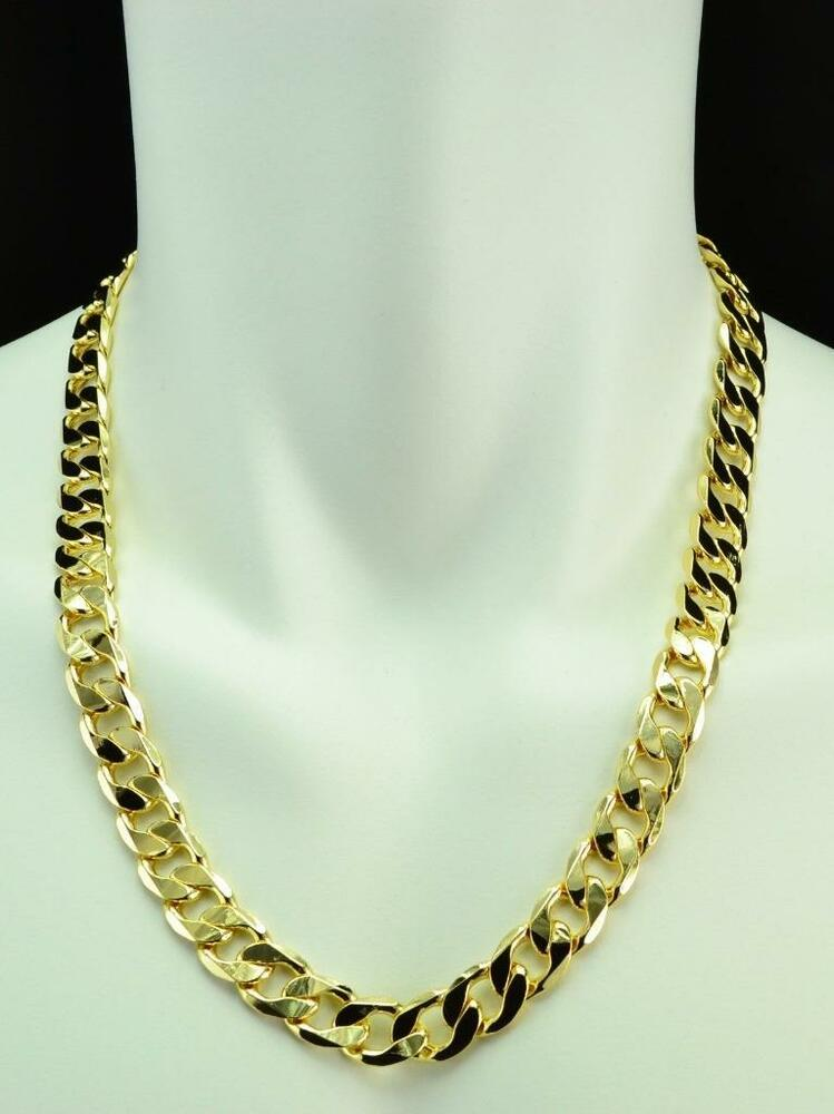 Mens Heavy 14k Yellow Gold Filled Cuban Link Chain