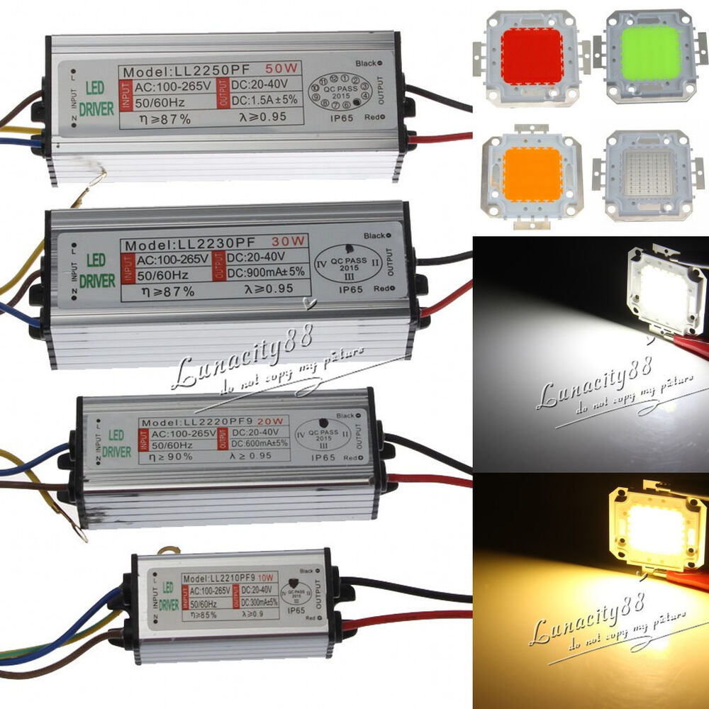 50w Led Driver Power Supply: Waterproof IP65 High Power Supply Driver Adapter +10W 20W