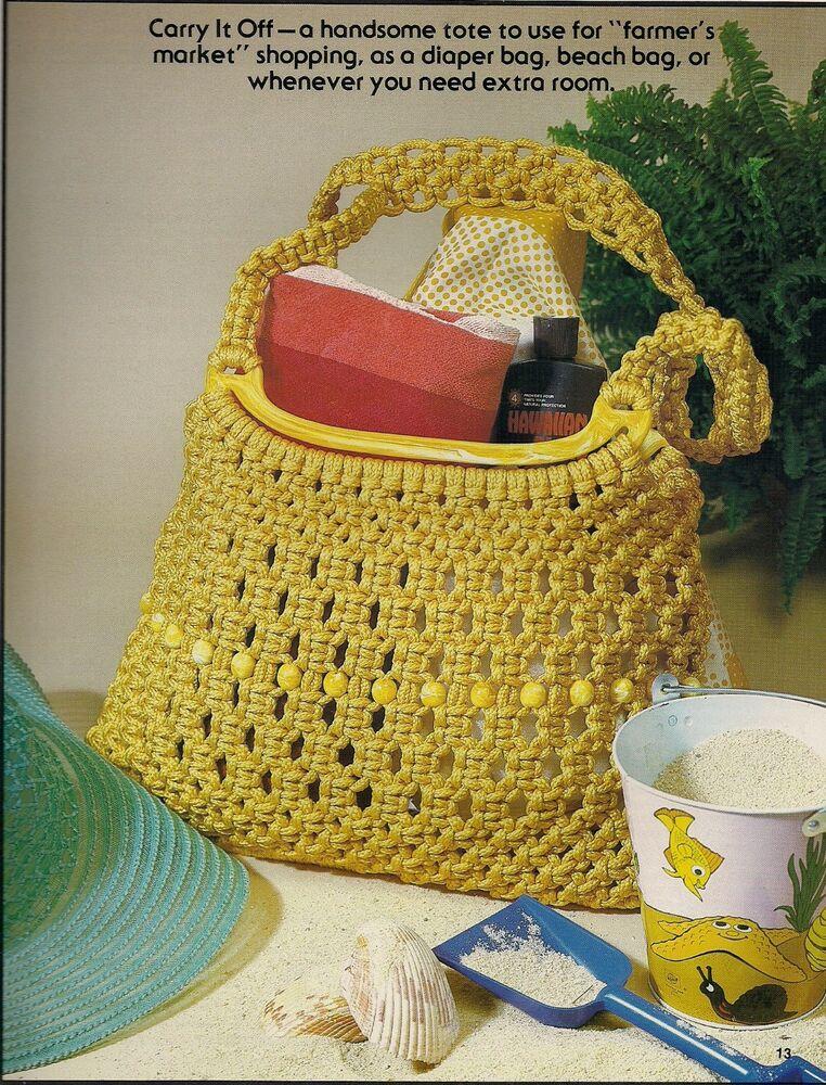 macrame tote bag instructions