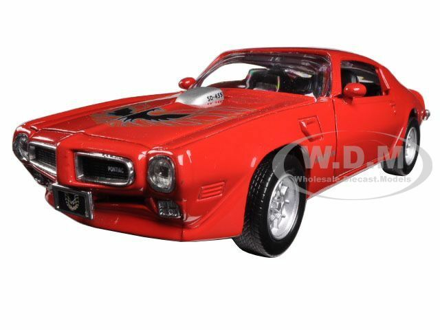 1973 pontiac firebird trans am red 1 24 diecast car model for Am motors used cars