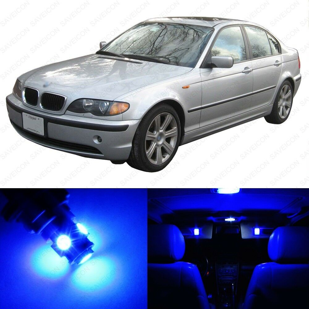 2002 Bmw M3 Interior: 14 X Blue LED Interior Light Package For 1999