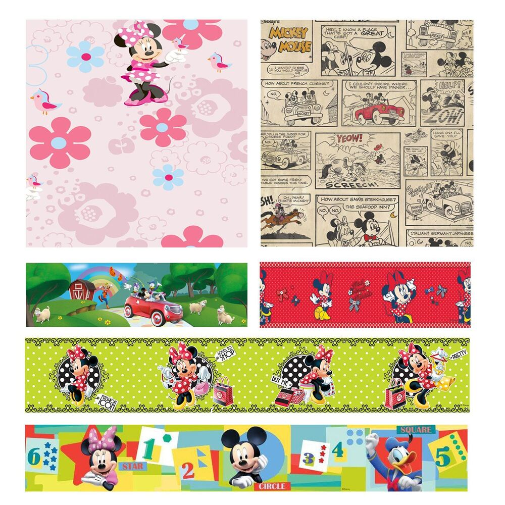 disney mickey minnie mouse wallpapers and borders kids