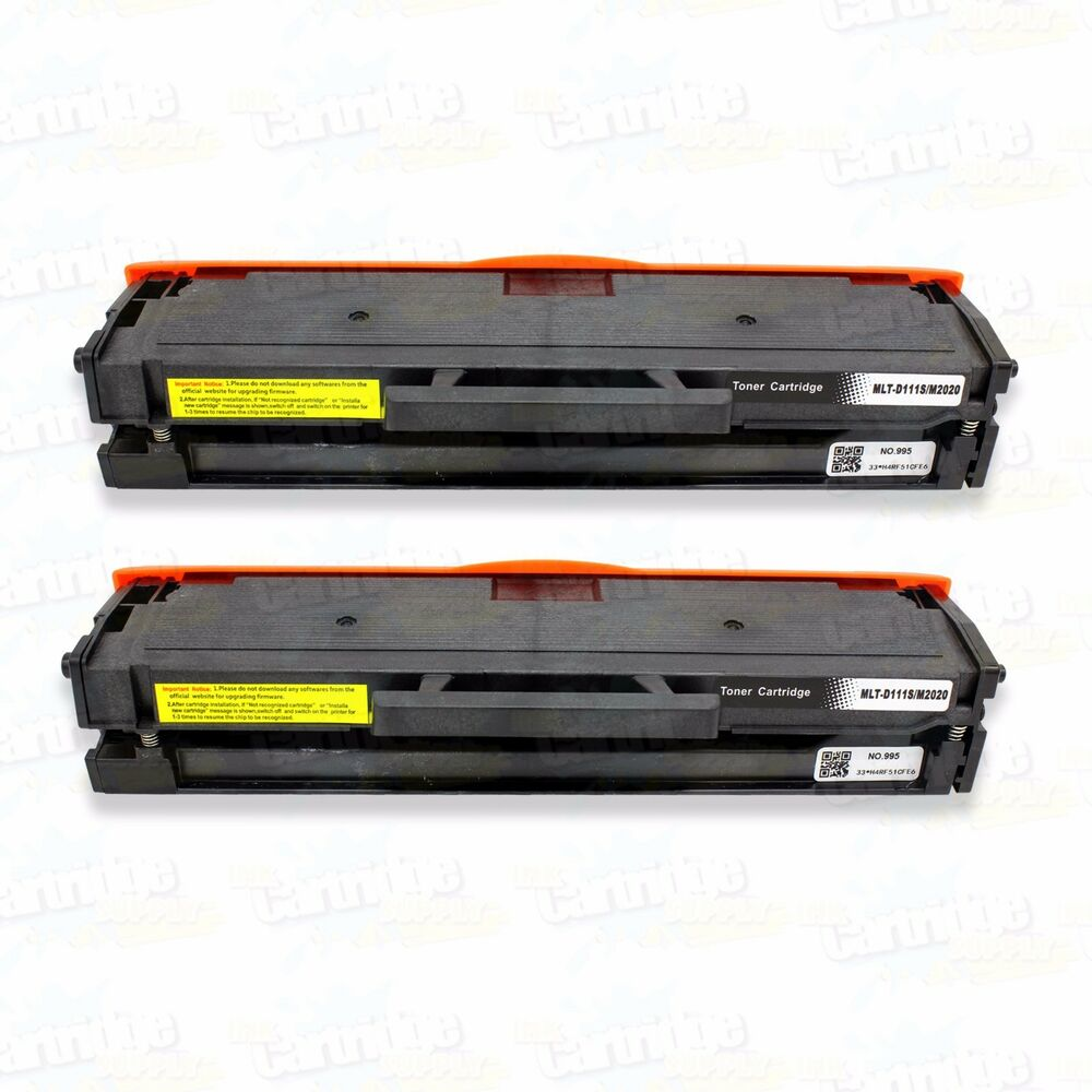 2pk new mlt d111s toner cartridge for samsung 111s xpress m2020w m 2070w m2070fw ebay. Black Bedroom Furniture Sets. Home Design Ideas