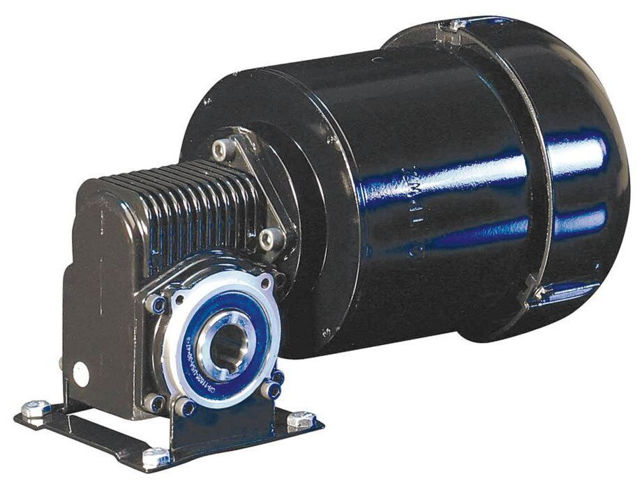 Dayton 3 phase hollow shaft right angel gear motor 1 4 hp for 3 phase 3hp motor