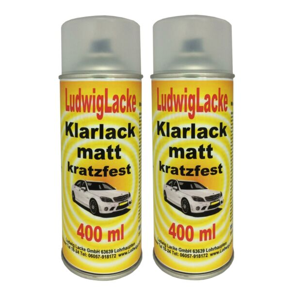 Klarlack kratzfest 2 Spraydosen Matt je 400ml Autolack Made in Germany