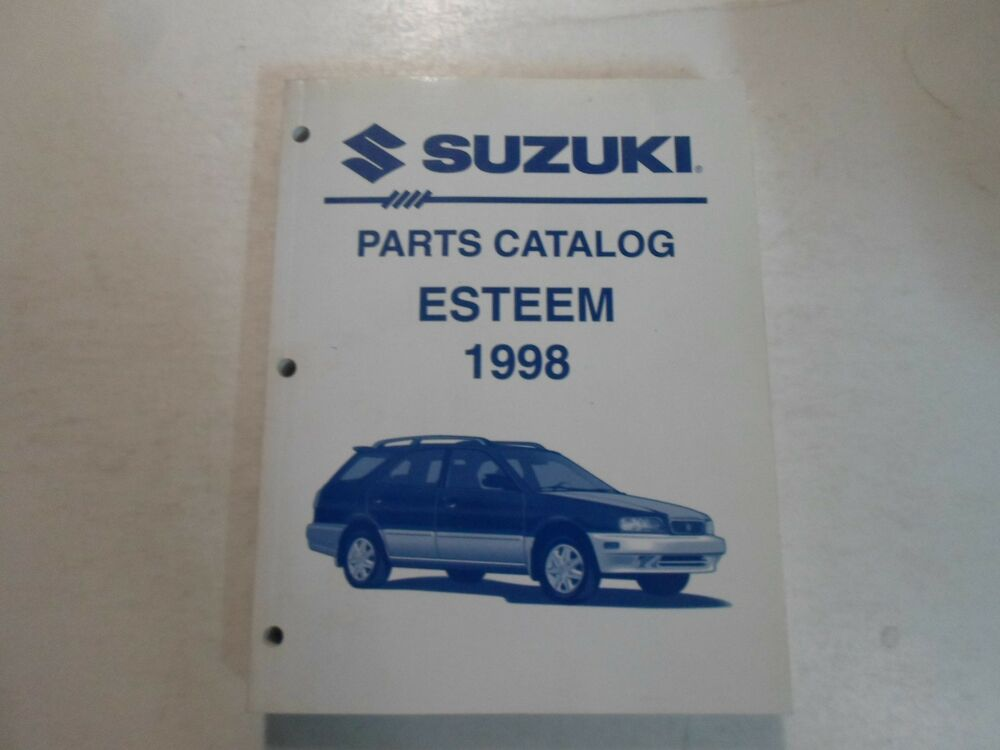 1998 Suzuki Esteem Parts Catalog Shop Manual 2nd Ed