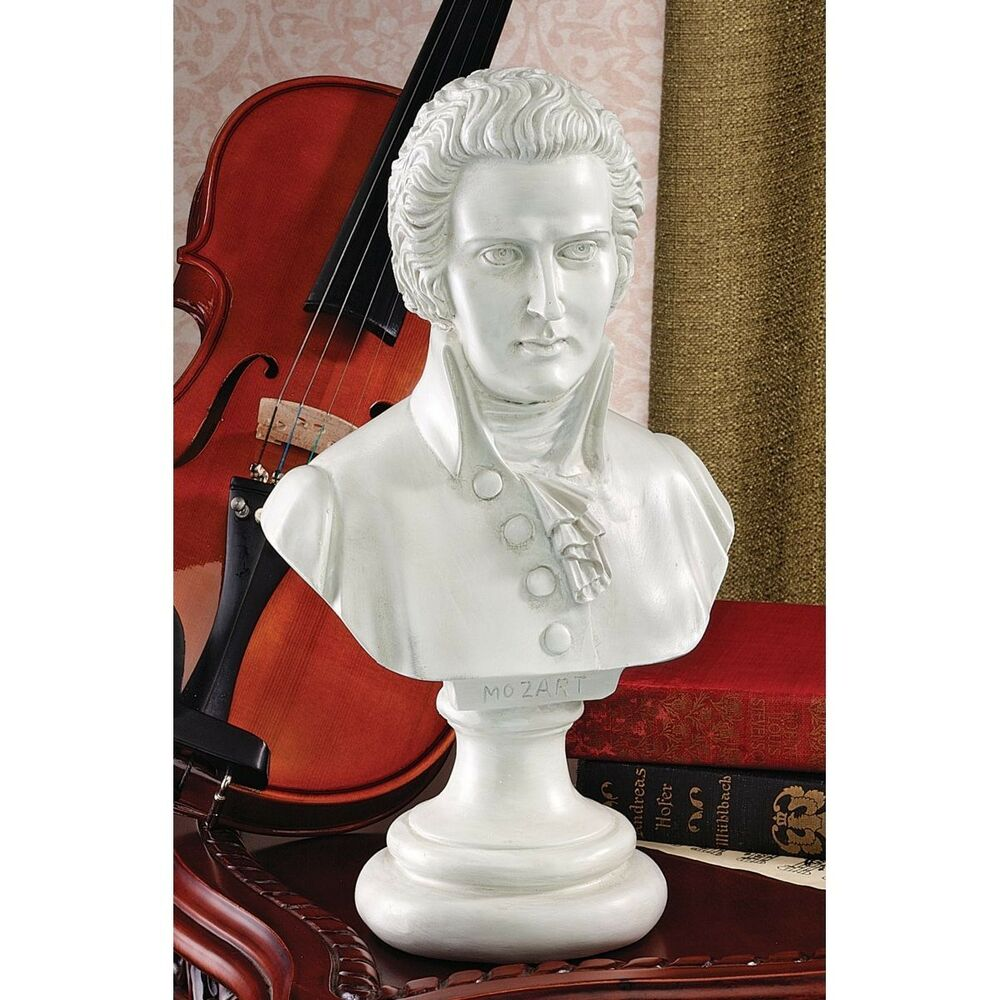 Wolfgang amadeus mozart sculpture bust great composer ebay for Amadeus decoration