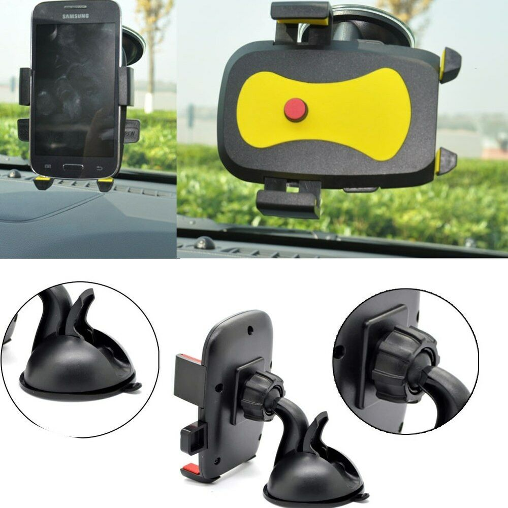 dashboard suction universal 360 rotating car windshield mount holder phone gps ebay. Black Bedroom Furniture Sets. Home Design Ideas
