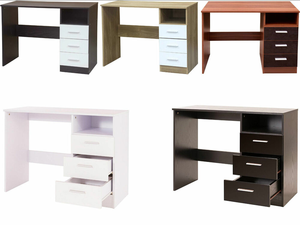 White Gloss Dressing Table And Chair: Caspian Supreme High Gloss 3 Drawer Desk Dressing Table