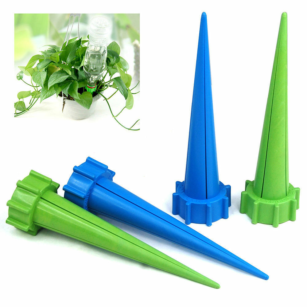 4pcs plant flower waterers garden cone watering spike for Plant waterer