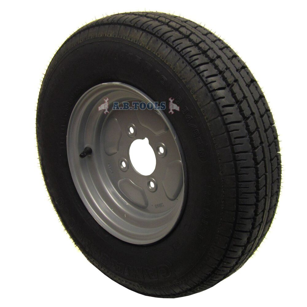 trailer wheel and tyre 145 x 10 8 ply 4 pcd trsp04 ebay. Black Bedroom Furniture Sets. Home Design Ideas