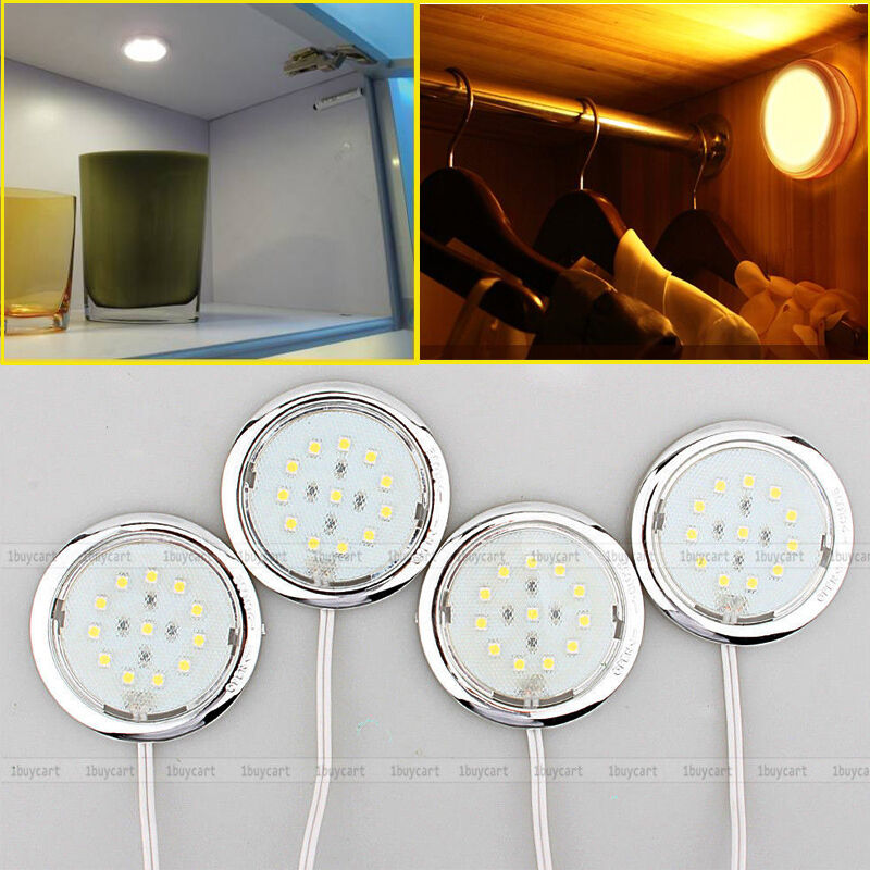 Kitchen Cabinets Lights: 4pcs Home Kitchen Led Under Cabinet Light Lighting Lamp