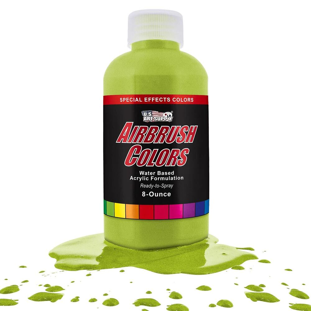 Us art supply 8 ounce special effects bright green pearl for Pearls paint supply