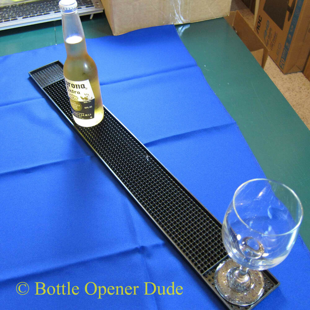 Long Black Rubber Bar Service Mat 27 X 3 25 Inches Great