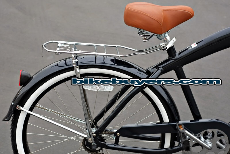 Chrome Luggage Rack For Men39s 26quot Beach Cruiser Bicycle  EBay