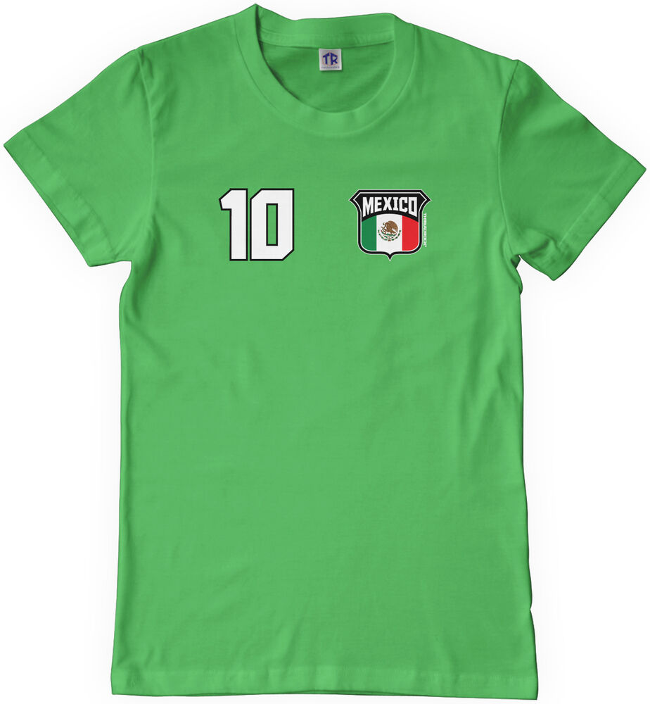 Threadrock kids team mexico soccer youth t shirt world cup for Boys soccer t shirts