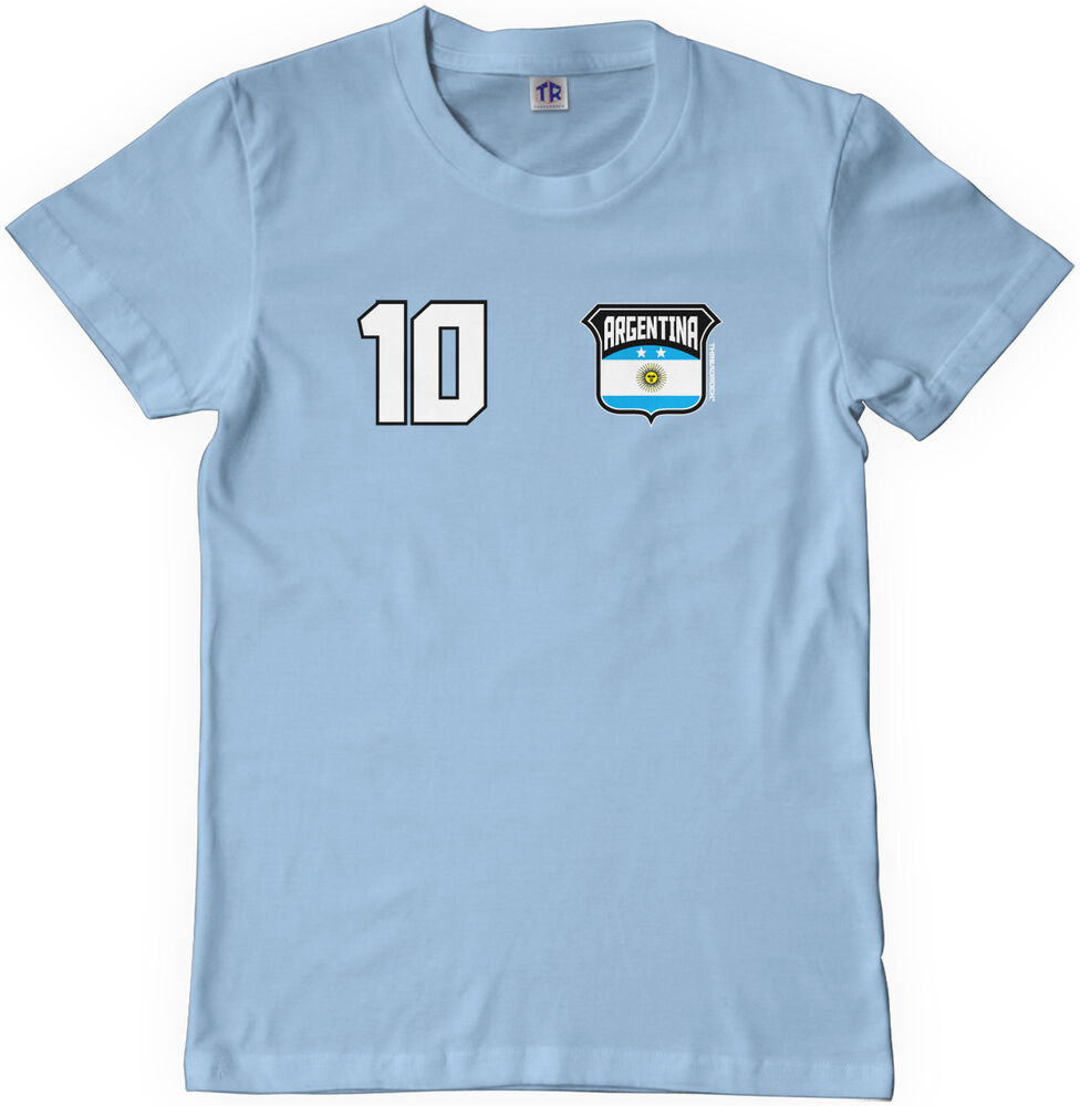 Threadrock kids team argentina soccer youth t shirt world for Boys soccer t shirts