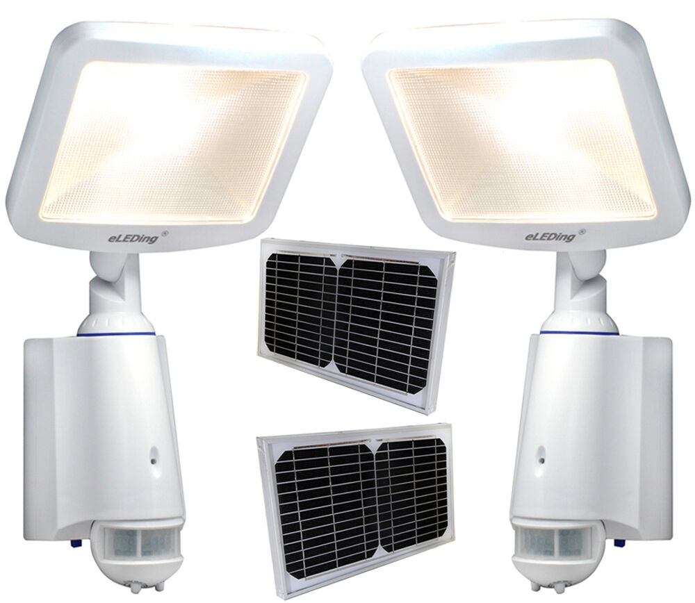 2 X Cree Led Dusk To Dawn Solar Power Outdoor Garden