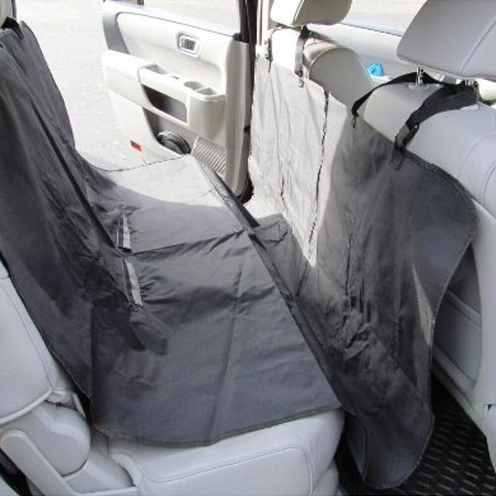 black waterproof car dog seat cover cat pet protector travel auto rear oxford ebay. Black Bedroom Furniture Sets. Home Design Ideas