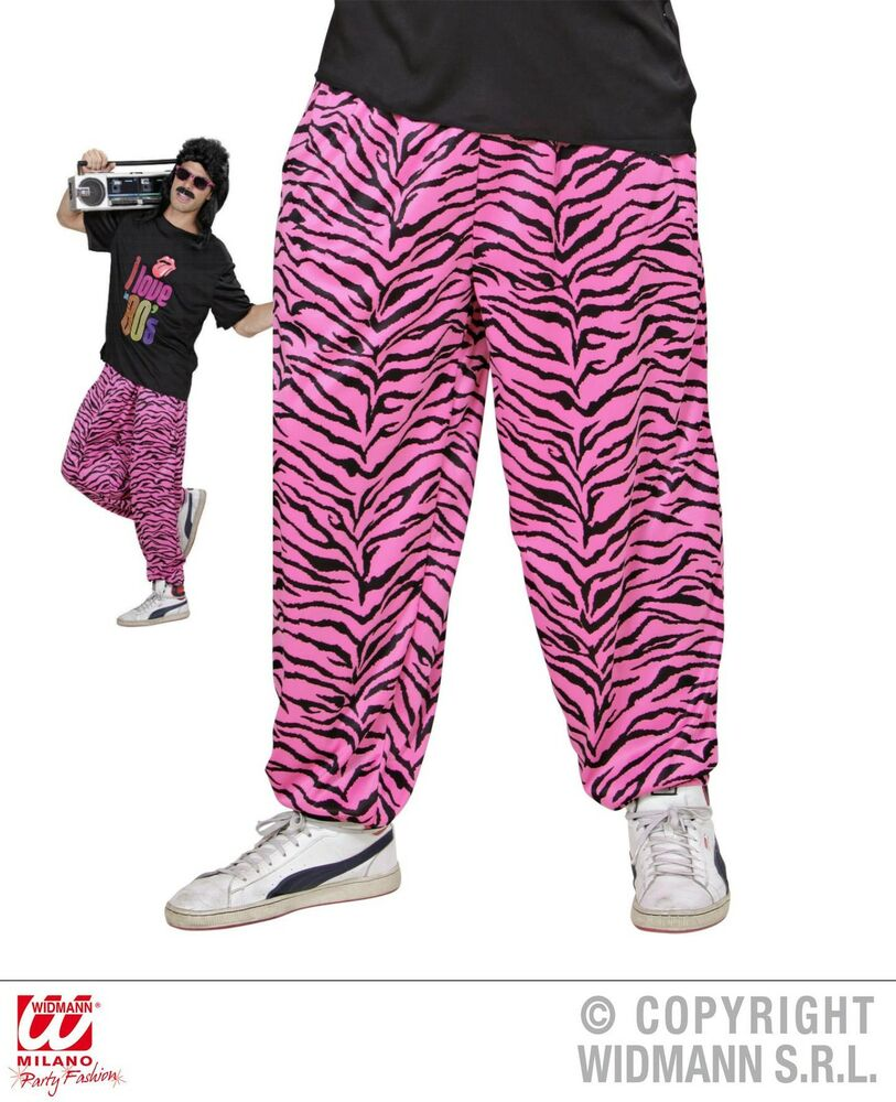 80er 90er jogginghose traningshose pink schwarz zebra m l l xl ebay. Black Bedroom Furniture Sets. Home Design Ideas