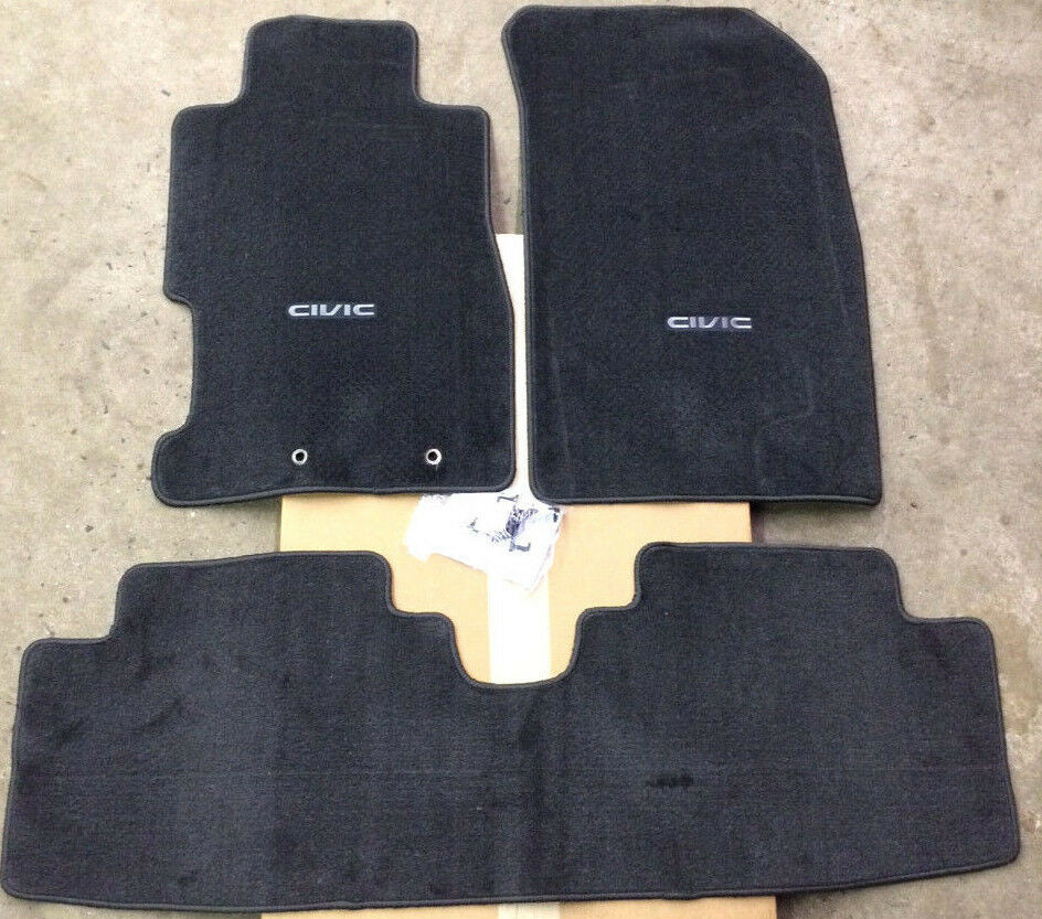 Genuine Oem Honda Civic 2dr 4dr Black Carpet Floor Mats