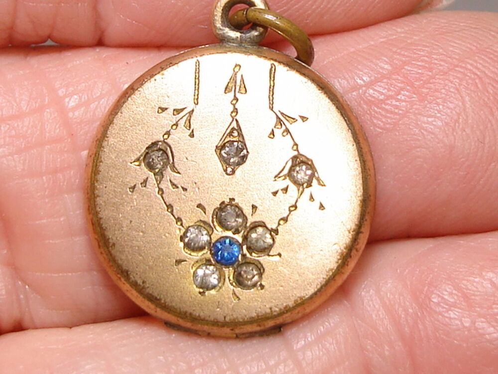 lovaly art nouveau rose gold filled with brilliants locket